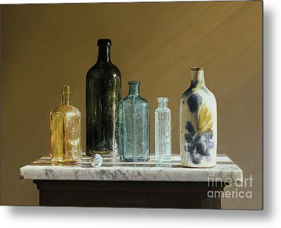 Marble On Marble Metal Print by Barbara Groff