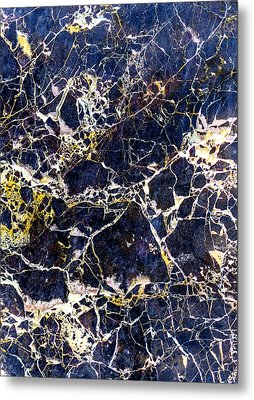 Marble Stone Texture Wall Tile Metal Print by John Williams