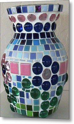 Metal Print featuring the glass art Marble Vase by Jamie Frier