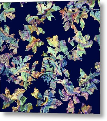 Marbled Branches Metal Print