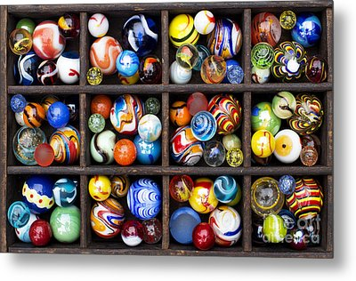 Marbleous Metal Print by Tim Gainey