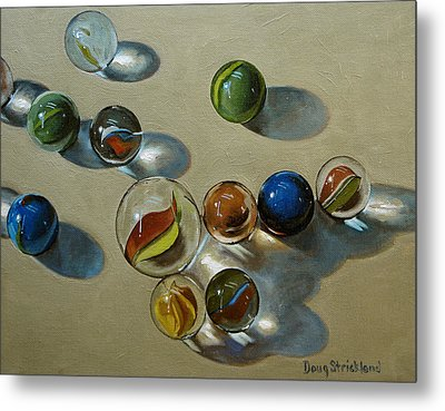 Marbles Metal Print by Doug Strickland