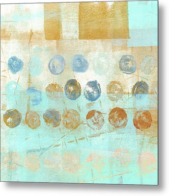 Marbles Found Number 1 Metal Print by Carol Leigh
