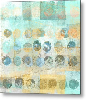 Marbles Found Number 4 Metal Print by Carol Leigh