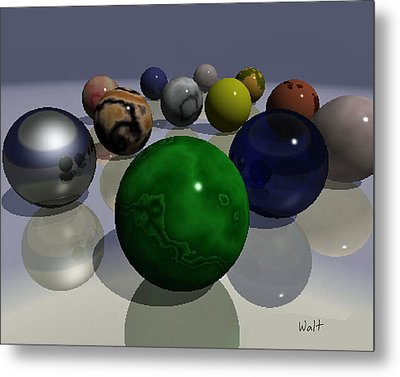 Metal Print featuring the digital art Marbles by Walter Chamberlain