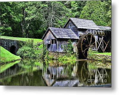 Metal Print featuring the photograph Marby Mill 3 by Paul Ward