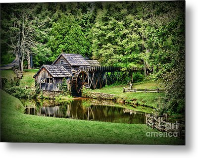 Metal Print featuring the photograph Marby Mill Landscape by Paul Ward