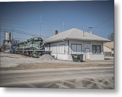 March 11. 2015 - A Little Evansville And Western Action Metal Print by Jim Pearson
