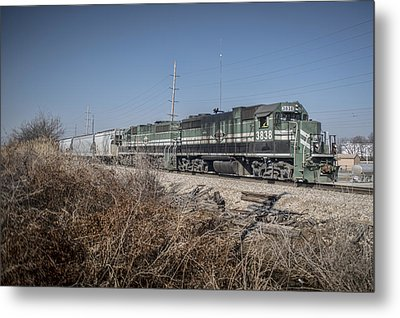 March 11. 2015 - Evansville And Western 3838 Metal Print by Jim Pearson