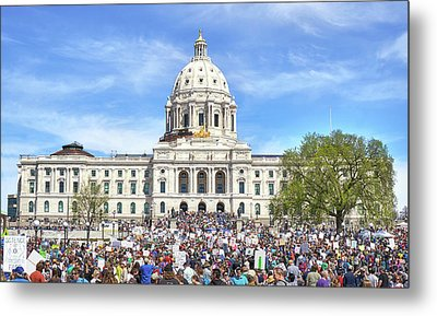 March For Science  Minnesota 2017 Metal Print by Jim Hughes