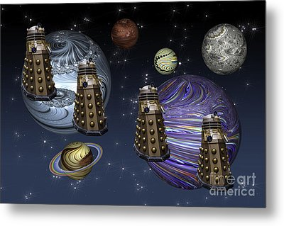 March Of The Daleks Metal Print by Steve Purnell