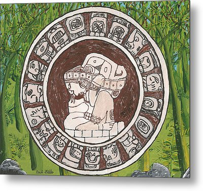 March  The Mayan Calendar Metal Print