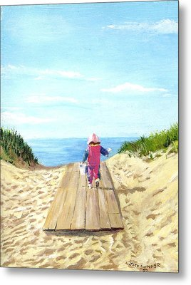 March To The Beach Metal Print