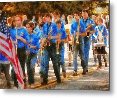 Marching Band - Junior Marching Band  Metal Print by Mike Savad