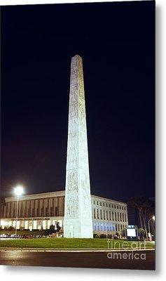 Marconi Obelisk Metal Print by Fabrizio Ruggeri