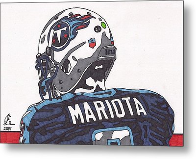 Marcus Mariota Titans 2 Metal Print by Jeremiah Colley
