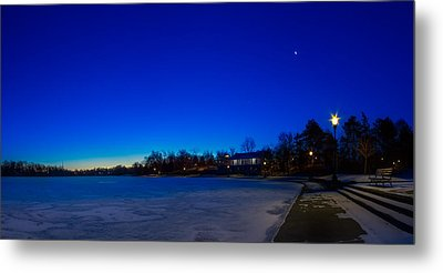 Metal Print featuring the photograph Marcy Casino Winter Twilight by Chris Bordeleau