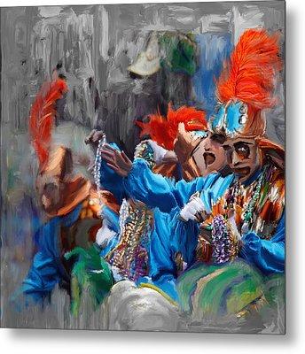 Mardi Gras 242  Metal Print by Mawra Tahreem