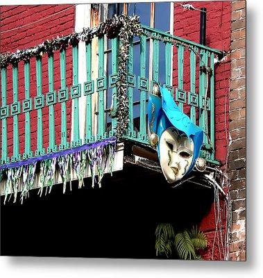Mardi Gras Balcony Metal Print
