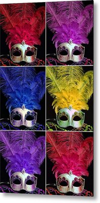 Mardi Gras Mask Collage 2 Metal Print