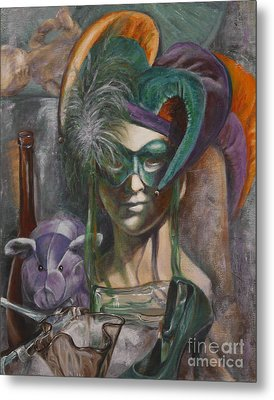 Mardi Gras Metal Print by Pam Raney