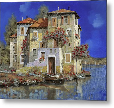 Mareblu' Metal Print by Guido Borelli
