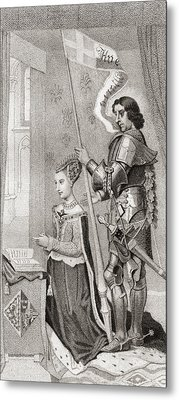 Margaret Of Denmark With St. Canute Metal Print
