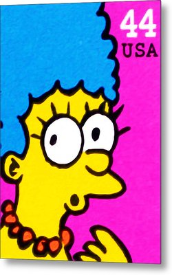 Marge Simpson Metal Print