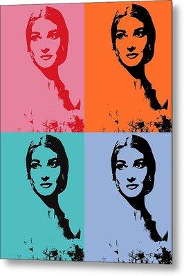 Maria Callas Pop Art Panels Metal Print