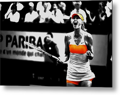Maria Sharapova 031 Metal Print by Brian Reaves