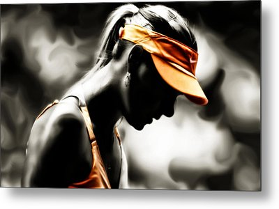Maria Sharapova Deep Focus Metal Print by Brian Reaves