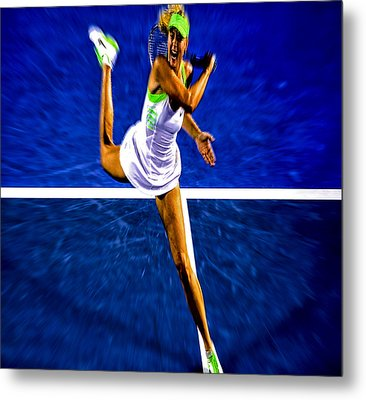 Maria Sharapova In Motion Metal Print by Brian Reaves