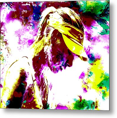 Maria Sharapova Paint Splatter 4c Metal Print by Brian Reaves