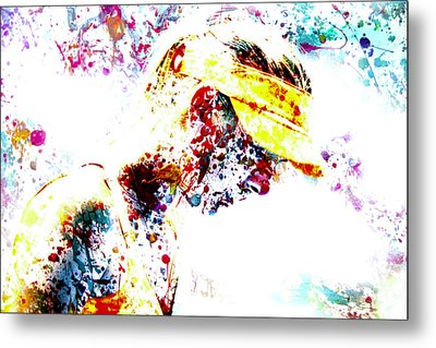 Maria Sharapova Paint Splatter 4p                 Metal Print by Brian Reaves