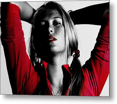 Maria Sharapova Red Hot Metal Print by Brian Reaves