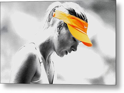 Maria Sharapova Stay Focused Metal Print by Brian Reaves