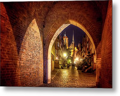 Mariacka By Night  Metal Print by Carol Japp