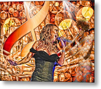 Mariah And Whitney-when You Believe Metal Print