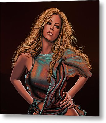 Mariah Carey Painting Metal Print by Paul Meijering