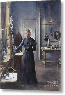 Marie Curie (1867-1934) Metal Print by Granger
