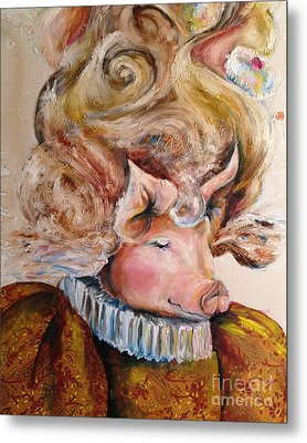 Metal Print featuring the painting Marie Pigtoinette by Christy  Freeman