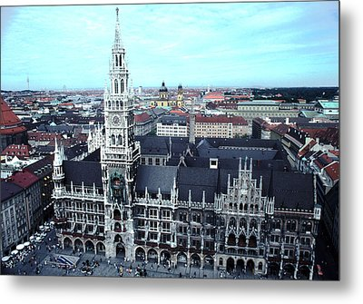 Marienplatz  City Hall Munich Metal Print