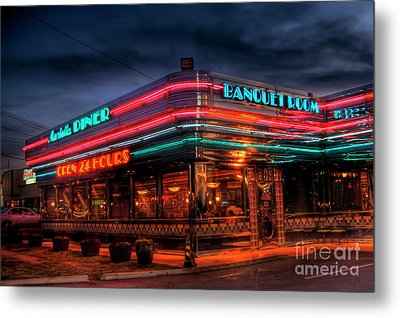 Marietta Diner Metal Print by Corky Willis Atlanta Photography