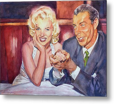 Marilyn And Joe 1952  Metal Print