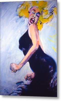 Metal Print featuring the painting Marilyn Dancing by Les Leffingwell