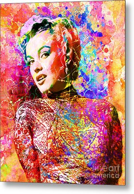 Marilyn Monroe Art  Metal Print by Ryan Rock Artist