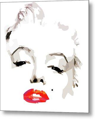 Marilyn Monroe Minimalist Metal Print