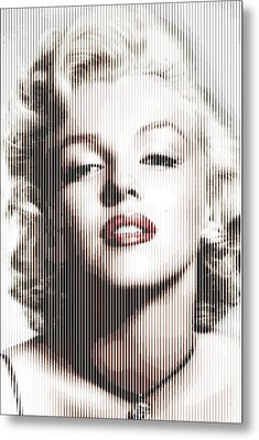 Marilyn Monroe - Colored Verticals Metal Print