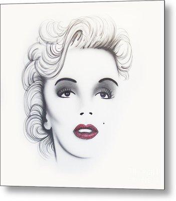 Marilyn Monroe Metal Print by Devaron Jeffery