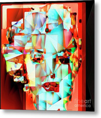Metal Print featuring the photograph Marilyn Monroe In Abstract Cubism 20170326 by Wingsdomain Art and Photography